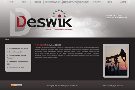 Deswik website