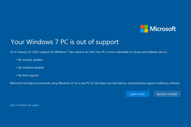 Options for Windows 7 users, now that official support from Microsoft has ended
